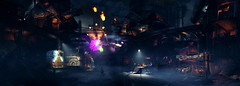 Night Gas Town (Sspektr) Tags: panorama night death pc screenshot disaster videogame madmax wasteland postapocalypse madmaxgame