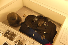 a helmet and the black uniform of the dreaded SS.. (Pervez 183A) Tags: camp buchenwald nazi ss