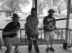 North Missouri Zombie Fighting League (yetanotherstephanie) Tags: blackandwhite edited missouri brothersinlaw grandmashouse scythe trentonmissouri galaxys6