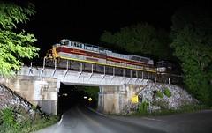 DLW on NS 165 in Ooltewah, TN (James Patrick Kolwyck) Tags: night photography tn ns tennessee norfolk southern deleware ge railfan freight lackawanna dlw ooltewah 165 emd railfanning c409w sd70ace