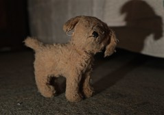 Antique Toy Dog (smilla4) Tags: shadow dog texture toy antique stuffedanimal toydog antiquechildstoy