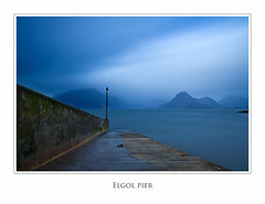 elgol pier (bert27250) Tags: sea sky mist mountains skye water clouds pier long exposure elgol