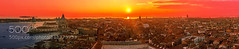 Sunset in Venice (Justin S Reid) Tags: street city travel blue venice light sunset sea summer sky urban italy panorama building tower water architecture clouds san italia cityscape view marco scape venezia veneto 500px bellvedere ifttt dierjscreensaver