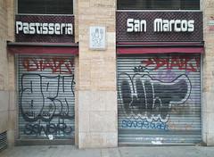 Pastisseria San Marcos (neg_ocio) Tags: cerrado juego letrero antiguo cartel tipografa tradicional negocio