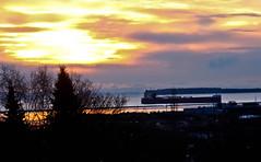 Last Ship This Year (beverlyks) Tags: winter sky clouds port sunrise dawn ship harbour whitefishbay lakesuperior laker canadasteamshiplines winterlayup thunderbayoncanada