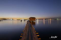 Red House Jetty (Azam Alwi) Tags: longexposure seascape sunrise landscape jetty malaysia slowshutter bluehour penang malaysian fishermanboat fishermanvillage leefilters jetinelayan tanjetty