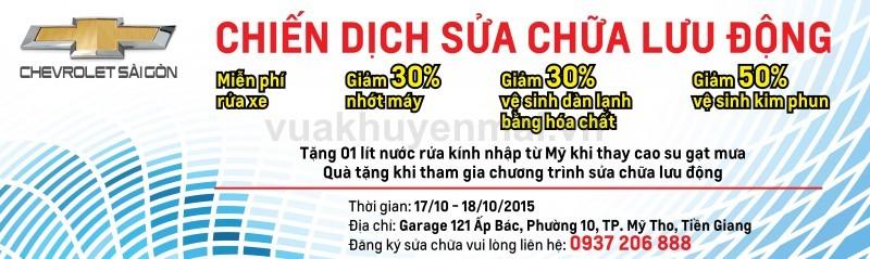Chiến dịch sửa chữa bảo dưỡng lưu động Tiền Giang 17/10 - 18/10