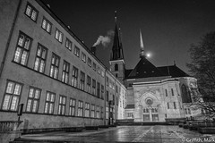 Notre Dame Luxembourg (Mark Griffith) Tags: bw work amazon amazoncom luxembourg silverefexpro2 sonya7rii 20160121dsc01772edit