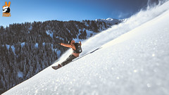 GWack @ #KidsPool (Snow Front) Tags: winter sun snow mountains clouds snowboarding cloudy sunny powder snowboarder freeride powpow deeppow loadedsnow