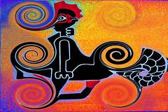 Strange desire with some orange fire (Marco Braun) Tags: color strange spiral symbol spirals dream helix psychedelic coloured sureal farbig bunt colurful mucho spirale abstrakt zeichen psychedelisch traum spiralen spirali