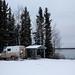 Acampamento ao lado do rio Mackenzie