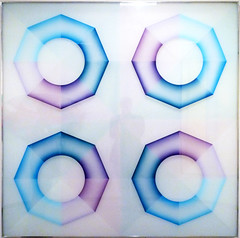 Judy Chicago, Pasadena Lifesaver, Blue Series #4, 1969-70