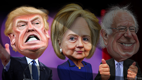 MSM spotlights Donald Trump vs. Hillary Clinton and Bernie Sanders