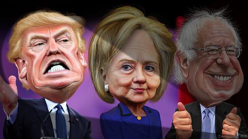 MSM spotlights Donald Trump vs. Hillary Clinton and Bernie Sanders