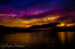 Befor Sunrise in Burrard Inlet (Syd Rahman) Tags: new travel canada colors fog sunrise nikon bc iso burrardinlet northvancouver rahman dslr today firstlight followme sydur brithishcolumbia maplewoodflatsconservationarea d7000 nikond7000 sydurrahman