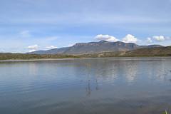 Postales de Mi Pueblo: Presa de los Perez y Cerro de San Nicols (Xellif) Tags: naturaleza nature mxico landscape jalisco paisaje postal colotln