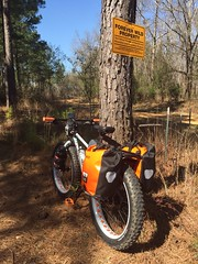 Old Man Mountain (The Goat Whisperer) Tags: old wild mountain man bike bicycle fat alabama pug swamp forever pugsley surly ops cahawba omm fatbike