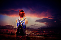Bliss (Librascal) Tags: camera red sky woman girl beautiful clouds digital photography cool pretty awesome calming extravagant mesmerizing