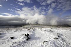 Commotion over White Scar (Malajusted1) Tags: winter cloud white mist mountain snow yorkshire limestone karst scar ingleton ingleborough ribblehead whernside twistleton