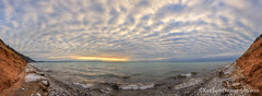 Lake Michigan ... striped clouds (Ken Scott) Tags: winter sunset panorama usa beach sand michigan lakemichigan greatlakes erosion february hdr freshwater voted sleepingbear leelanau 2016 45thparallel empirebluff fhdr stripedclouds sbdnl sleepingbeardunenationallakeshore mostbeautifulplaceinamerica