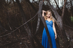 Savannah (Lee Harland Photography) Tags: california portrait beautiful model eyes unitedstates outdoor blonde sacramento bella discoverypark individuals bluedress outdoorportrait canon6d burntwoods leeharlandphotography leeharlandphotographycom