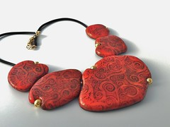 Polymer clay necklace (Olya's making) Tags: necklace handmade polymerclay organic pendant jewerly translucentclay olgaperovaonetsy olgaperova alcoholins