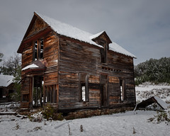 A Very Fine House (Flint Roads) Tags: trees windows house snow abandoned home rural montana mt decay sage vacant ghosttown dilapidated deteriorate castletown