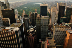 Central Park, Solow Building,  Sunset, View from Top of the Rock, New York, U.S.A. (Fco. Javier Cid) Tags: sunset usa newyork centralpark solowbuilding viewfromtopoftherock