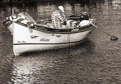 One Man And His Boat (albireo 2006) Tags: sea blackandwhite bw boat blackwhite mediterranean malta pb nb bn zurrieq blackandwhitephotos wiedizzurrieq blackwhitephotos urrieq wiediurrieq