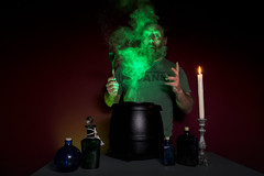 40/366 - double, double toil and trouble (possessed2fisheye) Tags: portrait selfportrait green self creative cauldron hocuspocus 2016 creativeselfportrait 366 creativephotography creativeportrait greensmoke project366 366project possessed2fisheye 366project2016 3662016 project3662016 mixingapotion brewingupaspell makingalovepotion