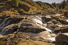 Waterfall (Rossco156433) Tags: winter nature water sunshine river landscape scotland waterfall ayrshire ndfilter eastayrshire