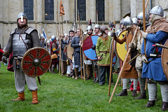 Prepare for battle! (AndMakeItSnappy) Tags: york england heritage festival display military viking reenactment jorvik cityofyork jorvikvikingfestival2016