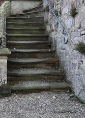 Treppe (Klaus R. aus O.) Tags: old plant stone wall moss weed iron lock alt wand pflanze stairway treppe step gras railing schloss stein gravel stiege stufe eisen geländer schotter oberschwappach