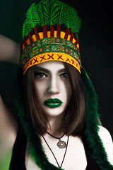 (IAN BOIL) Tags: new travel winter green art tourism nature girl beautiful beauty fashion tattoo project lens 50mm iso100 photo model nikon colorful photographer russia top f14 surrealism supermodel indian 14 surreal style vogue siberia f kit nikkor photoshot roach ethnic 3200 swag photosession brutal headdress covergirl winterfashion photoproject topmodel fashionmodel photomodel nikond3200    injun altay  ethnos tattoogirl  d3200