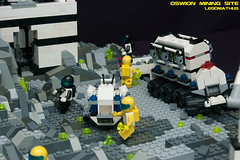 19_overview (LegoMathijs) Tags: expedition layout wire mod energy power lego crystal space el vehicles astronauts modular planet scifi 20 functions mindstorms sattelite drill containers grapple spaceships miners moc nxt ores legomathijs oswion