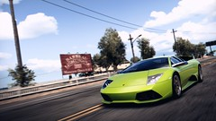 Freshness (polyneutron) Tags: motion green car photography depthoffield videogame dramaticsky needforspeed lamborghini murcielago nfs hotpursuit photomode hp2010