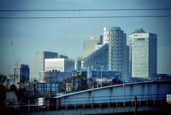 Canary Wharf (firstnameunknown) Tags: city london skyline architecture cityscape docklands canarywharf railwayline dlr camerabag camerabag2
