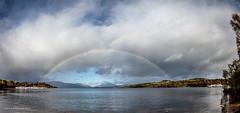 Bridge over Loch Lomond (Richard W2008) Tags: water clouds scotland rainbow lochlomond