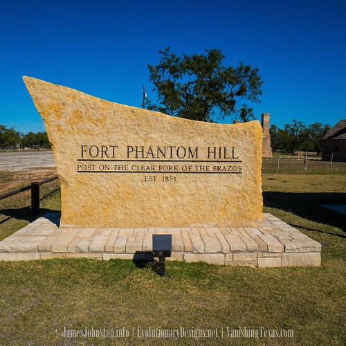 Start of a new series. Fort Phantom Hill near Abilene, Texas.  Located in present-day Jones County, Fort Phantom Hill is one of the most pristine historic sites in Texas. It was one of the second line of forts laid out in the early 1850's to protect the w
