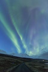 Aurora borealis and daylight (*Jonina*) Tags: longexposure sky iceland sland northernlights auroraborealis himinn norurljs 25faves fskrsfjrur faskrudsfjordur jnnagurnskarsdttir april2nd2016