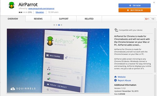 AirParrot for Chromebooks by Wesley Fryer, on Flickr