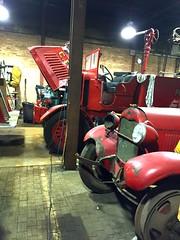 Old antique fire apparatus waiting to be restored. (Chicago Rail Head) Tags: garage restorations vintagefiretrucks firemuseumofthegreaterchicago