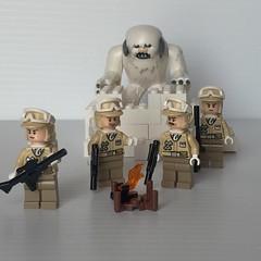 Outpost Duty on Hoth (PlastikShak) Tags: trooper rebel star lego echo mini both rebellion wars figures base wampa minifigures