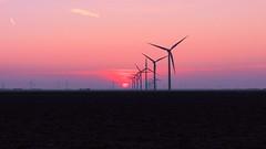 Windmill's at sunset 2 (erikvdlinden) Tags: sunset sky windmill landscape energy technology power wind environmental electricity environment turbine goldenhour sustainable renewable