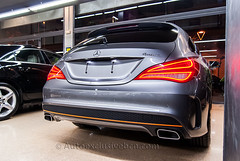 Mercedes-Benz Clase CLA 250  4 Matic * AMG *Shooting Brake Orange Art Edition - 211 c.v - Gris Montaña