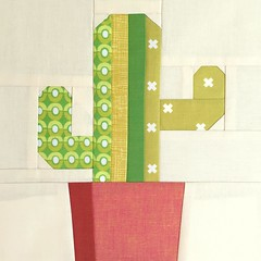 Saguaro Paper Piece Pattern (Modern Quilting by B) Tags: cactus paper pattern quilt mini block piece