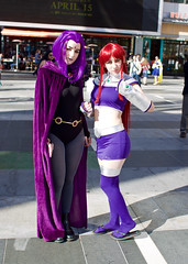 T60C9075 Wondercon 2016: Saturday (ivankay) Tags: cosplay starfire raven teentitans wondercon losangelesconventioncenter ivankay wondercon2016
