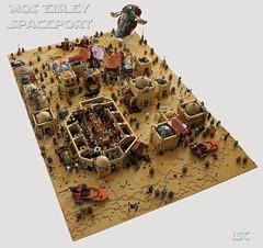 Mos Eisley Spaceport complete (I Scream Clone) Tags: starwars lego scifi cantina moseisley