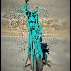 """""""Statue of Liberty""""....wooden artwork in Long Beach, N.Y. One of a number of creative works constructed from driftwood, viewable from the Boardwalk.... (iPhone 6+, edited in Snapseed)  #StatueofLiberty, #Boardwalk, #Driftwood, #Creative, #Karltepfer (Karl Tepfer) Tags: creative driftwood boardwalk statueofliberty karltepfer"""