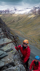 Honister_Via Ferrata (38 of 73) (Kevin John Hughes) Tags: bridge england lake snow mountains net landscape scary burma rope cargo climbing pike keswick buttermere honister dostrict fleetwith mountineering
